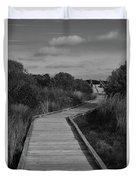 Boardwalk At Talbot Island Duvet Cover