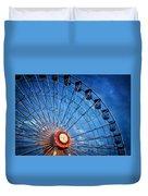 Boardwalk Ferris Wheel At Dusk Duvet Cover