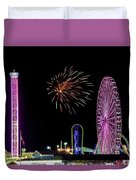 Boardwalk Fieworks At The Jersey Shore Duvet Cover