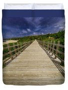 Boardwalk In Color Duvet Cover