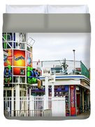 Boardwalk Ride Duvet Cover