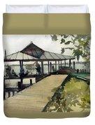 Boardwalk Sarasota Duvet Cover