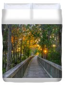 Boardwalk Sunset Duvet Cover