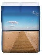 Boardwalk To The Ocean Duvet Cover