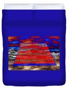Boat As Art With Text Duvet Cover