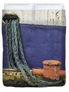 Boat Detail Husavik Iceland 3701 Duvet Cover