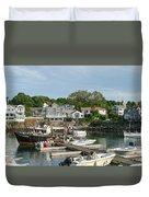 Boat Dock Duvet Cover