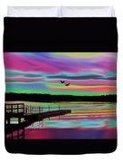 Boat Dock Duvet Cover