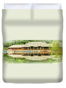 Boat House At Verona Park  Duvet Cover
