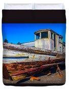 Boat In Dry Dock Duvet Cover