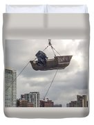 Boat In The Air Duvet Cover