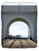 Boat In The Arch Duvet Cover
