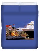 Boat Is In On Front Street Duvet Cover