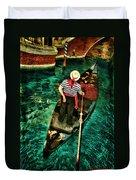 Boat Of Venice Duvet Cover