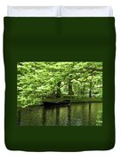 Boat On A Lake Duvet Cover