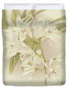 Boat Orchid  Cymbidium Duvet Cover