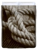 Boat Rope Sepia Tone Duvet Cover
