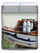 Boat Shark Decoration Donegal Duvet Cover