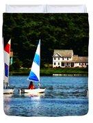 Boat - Striped Sails Duvet Cover