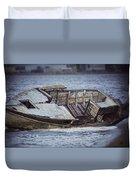 Boat Wreck Duvet Cover
