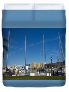 Boater's Paradise Duvet Cover by Michael Tesar