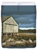 Boathouse Duvet Cover by John Greim