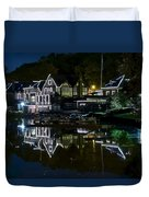 Boathouse Row Eight By Ten Duvet Cover