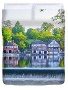 Boathouse Row - Framed In Spring Duvet Cover