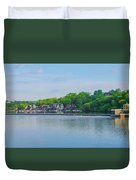 Boathouse Row From Mlk Drive - Philadelphia Duvet Cover