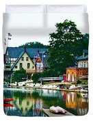 Boathouse Row In Philly Duvet Cover