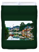 Boathouse Row In Philly Duvet Cover by Bill Cannon