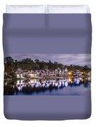 Boathouse Row Night Blue Duvet Cover