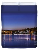 Boathouse Row Philly Duvet Cover