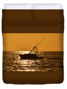 Boating And Fishing Duvet Cover