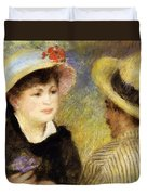 Boating Couple Aline Charigot And Renoir 1881 Duvet Cover