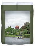 Boating In Thorpeness Duvet Cover