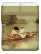 Boating On The Seine Duvet Cover