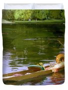 Boating Scene At Maidenhead Sir John Lavery Duvet Cover