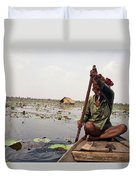 Boatman - Battambang Duvet Cover
