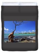 Boats At Anaehoomalu Bay Duvet Cover