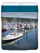 Boats At Friday Harbor Duvet Cover
