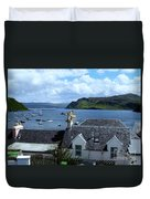Boats At Portree Duvet Cover