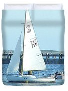 Boats At Provincetown Duvet Cover
