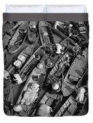 Boats, Hoi An, Vietnam Duvet Cover