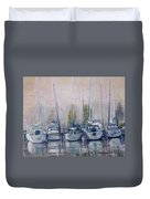 Boats In A Row Duvet Cover