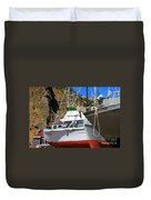 Boats In Drydock Duvet Cover