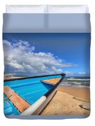 Boats In Mayaro Duvet Cover
