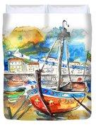 Boats In Tavira In Portugal 02 Duvet Cover