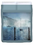 Boats In The Fog Duvet Cover by Joana Kruse