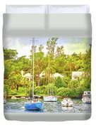 Boats In Waiting Duvet Cover
